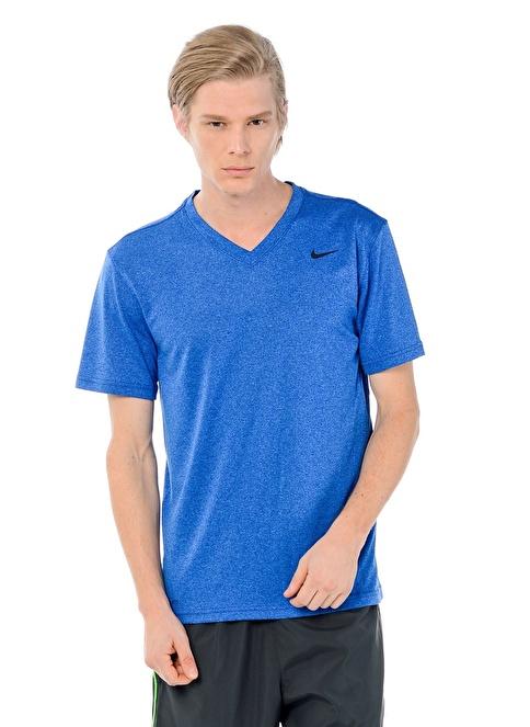 Nike V Yaka Tişört Mavi